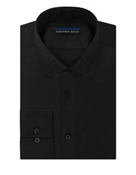 Geoffrey Beene Sateen Fitted Dress Shirt Black