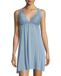 Fleurt Sleeveless Lace Chemise Adriatic Blue Women's