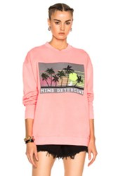 Alexander Wang Oversized Sweatshirt With Knit Patch In Pink