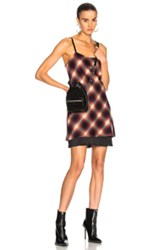 Calvin Rucker For Fwrd Wake Me Up Before You Go Go Dress In Checkered And Plaid Red Checkered And Plaid Red