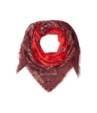 Michael Stars Falling For Florals Square Scarf Multi Scarves