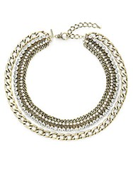 Natasha Multi Chain And Sparkle Strand Necklace Gold