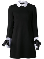 Alexander Mcqueen Peter Pan Collar Dress Black