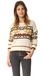 Scotch And Soda Maison Scotch Vintage Ski Sweater Ivory