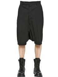 Rick Owens Pod Light Stretch Wool Gabardine Shorts