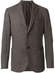 Z Zegna Tweed Blazer Brown