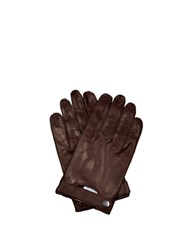 Mulberry Leather Driving Gloves Dark Brown