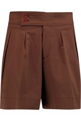 Etro Cotton Blend Shorts Brown