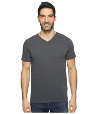 Agave Hal Short Sleeve V Neck Tri Blend Jersey Stripe Block Ombre Blue Men's Clothing Navy