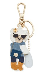 Furla Lady Blogger Key Ring Blu Ginepro
