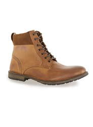 Topman Brown Tan Leather Cuff Boots