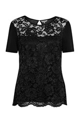 Great Plains In The Mix Lace T Shirt Black