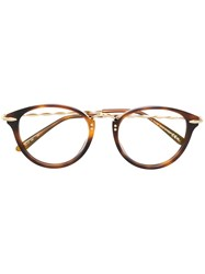 Elie Saab Round Frame Glasses Brown