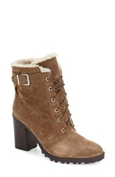 Women's Ivanka Trump 'Gentry' Lace Up Boot Tobacco Suede
