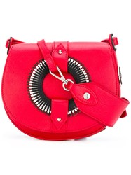 Orciani Montana Crossbody Bag Women Calf Leather One Size Red