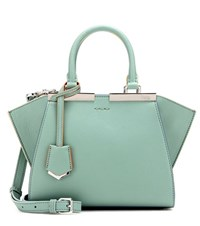 Fendi 3Jours Mini Leather Tote Green