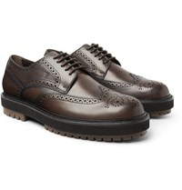 Tod's Leather Wingtip Brogues Brown