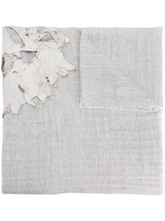 Cutuli Cult Distressed Layer Detail Large Scarf White
