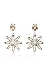 Erickson Beamon My One And Only 24K Gold Plated Crystal And Pearl Earrings