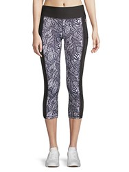 X By Gottex Emma Muscle Capri Leggings Dark Grey