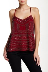 Meghan La Santino Beaded Cami Red