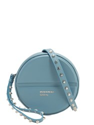 Dsquared Pills Round Leather Bag Blue