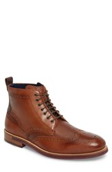 Ted Baker 'S London Hjenno Wingtip Boot Tan Leather