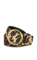 Karen Millen Leopard Print Belt Multi Coloured