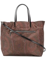 Etro Reversible Shopper Tote Brown