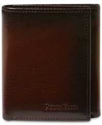 Perry Ellis Michigan Slim Ombre Trifold Wallet Brown
