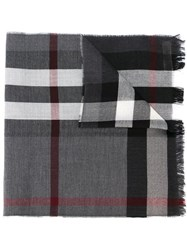 Burberry Woven Check Scarf Grey