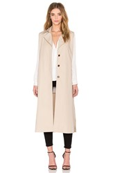 Native Stranger Sleeveless Detachable Trench Coat Beige
