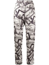 Joseph Post Card Print Straight Leg Trousers 60