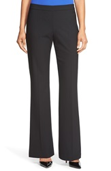 Boss 'Tulea' Stretch Wool Bootcut Trousers Black