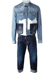 Dsquared2 Denim Shirt Overall Blue