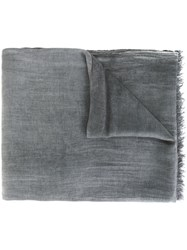 Eleventy Frayed Scarf Grey