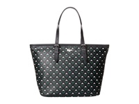 Lacoste Nelly Medium Shopping Bag Midnight Navy Lily White Tote Handbags Blue