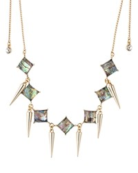 Abs By Allen Schwartz Abalone Choker Necklace 24 Gold Abalone