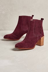 Anthropologie Ryker Snakeskin Ankle Boots Red