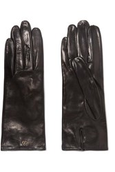 Dolce And Gabbana Leather Gloves Black