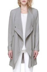 Soia And Kyo Women's Draped Asymmetrical Coat Pebble