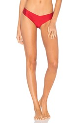 Commando Solid Thong Red