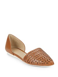 Saks Fifth Avenue Karra Cutout Flats Saddle