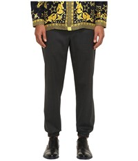 Versace V600293 Dark Grey Men's Casual Pants Gray