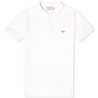 Maison Kitsune Tricolour Fox Polo White