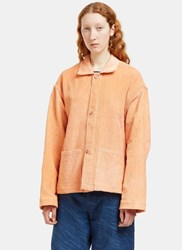 Story Mfg. Short On Time Corduroy Jacket Orange