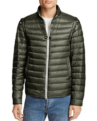 Herno Convertible 2 In 1 Down Jacket Olive