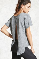 Forever 21 Active Split Back Top Heather Grey Onerror Javascript Fnremovedom 'Col