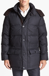 Vince Camuto Quilted Hooded Anorak Charcoal