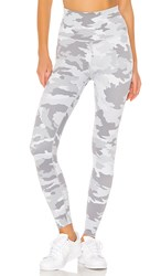Beyond Yoga Olympus High Waisted Midi Legging In Gray. Gray Camo
